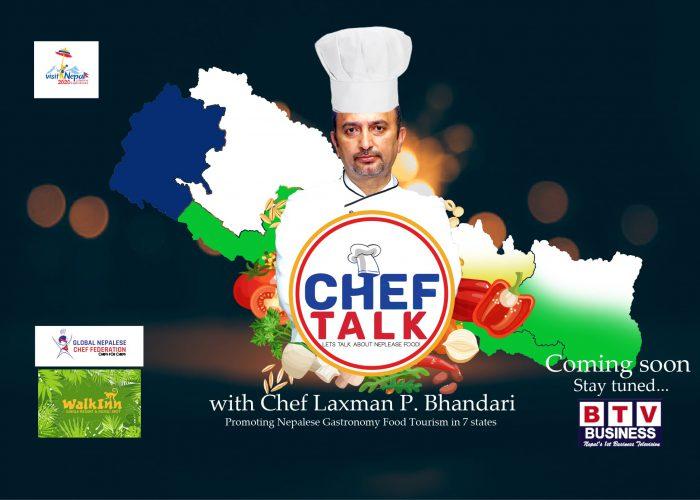 Poster Chef Talk With Chef Laxman p. Bhandari_A hat-min